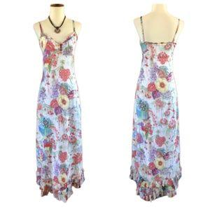 Deletta Romantic Floral Print Summer Dress